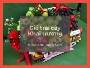 Giỏ quà mừng khai trương - giá giỏ trái cây khai trương để bàn TPHCM trên MuaBanNhanh