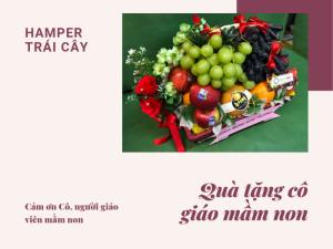 Quà tặng 20/10 cho cô giáo mầm non - Hamper trái cây - Cám ơn Cô, người giáo viên mầm non
