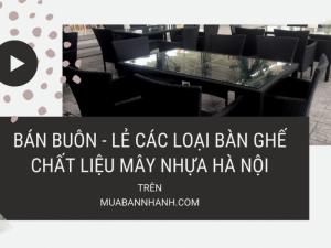 Bán buôn, bán lẻ các loại bàn ghế chất liệu mây nhựa tại Hà Nội - Kinh nghiệm chọn mua bàn ghế cafe nhựa giả mây chất lượng