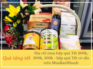 Địa chỉ mua hộp quà Tết 200k, 300k, 500k - hộp quà Tết có sẵn trên MuaBanNhanh