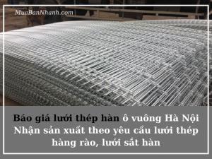 Báo giá lưới thép hàn ô vuông Hà Nội - Nhận sản xuất theo yêu cầu lưới thép hàng rào, lưới sắt hàn