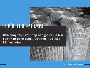 Nhà cung cấp lưới thép hàn giá rẻ Hà Nội - Lưới hàn dạng cuộn, lưới kẽm, lưới sắt hàn mạ kẽm