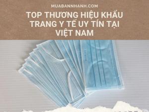 Top thương hiệu khẩu trang y tế Việt Nam trên MuaBanNhanh
