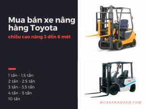 Mua bán xe nâng hàng Toyota 1 tấn, 1.5 tấn, 2 tấn, 2.5 tấn, 3 tấn, 3.5 tấn, 4 tấn, 5 tấn, 10 tấn - chiều cao nâng 3 đến 6 mét