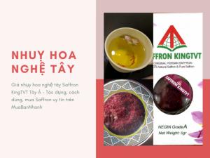 Giá nhụy hoa nghệ tây Saffron KingTVT Tây Á - Tác dụng, cách dùng, mua Saffron uy tín trên MuaBanNhanh