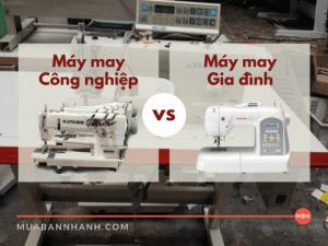 So sánh máy may công nghiệp và máy may gia đình