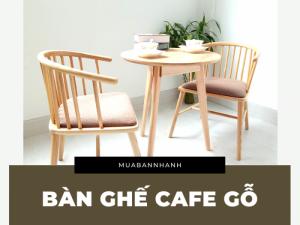 Mẫu bàn ghế cafe gỗ pallet, cao su, thông, chân sắt giá rẻ