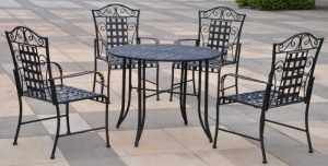 Mẫu bàn ghế cà phê sắt đẹp cho quán cafe ngoài trời, cafe sân vườn