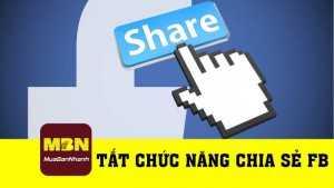 Hướng dẫn tắt chức năng chia sẻ trên Facebook cá nhân