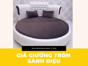 Giá giường tròn sành điệu - giường tròn bọc da đẹp như khách sạn TPHCM
