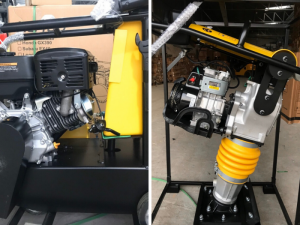 Giá máy đầm cóc chạy xăng, động cơ Robin Nhật Bản, lắp ráp Việt Nam thương hiệu Huspanda