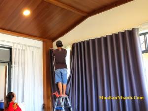Giá rèm cửa 2 lớp chống nắng bền đẹp phòng khách, phòng ngủ, cửa sổ trực tiếp từ xưởng sản xuất, may bao thi công tại TPHCM