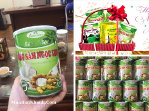 Giỏ quà Tết dinh dưỡng - sữa bột dinh dưỡng từ sâm Ngọc Linh