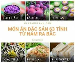 Món ăn đặc sản 63 tỉnh thành từ Nam ra Bắc - Tổng hợp từ đối tác đặc sản Sương House