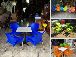 Nhà sản xuất ghế nhựa đúc nguyên khối chân inox cho quán cafe sân vườn TPHCM trên MuaBanNhanh