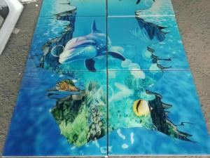 Nhà phân phối tranh gạch phủ kính, phủ bóng UV tráng gương cao cấp, chống trầy xước