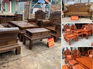 Top những mẫu bàn ghế gỗ phòng khách đẹp cổ điển cho không gian rộng cần sự sang trọng