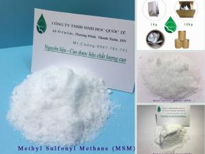 Methyl Sulfonyl Methane là gì? Nguyên liệu ngành dược và TPCN bột MSM mua ở đâu?
