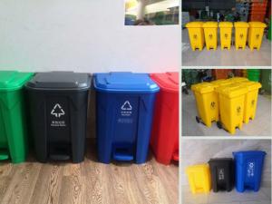 Giá thùng rác nhựa đạp chân 30l, 20l, 15l - Hàng nhập khẩu thùng rác đạp chân đại 120l có bánh xe