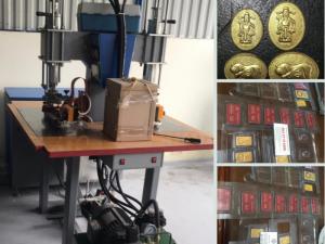Phân phối máy ép vỉ vàng - nhẫn vàng, vàng miếng, vàng thỏi 1 chỉ, 2 chỉ, 3 chỉ, 5 chỉ tài lộc, thần tài... khắc tên công ty, địa chỉ lên vỉ vàng