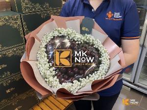 Bó hoa ăn được, bó hoa dâu tây, bó hoa Cherry, hoa Socola - Strawberry, Cherry, Chocolate Flower Bouquet