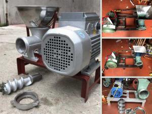 Mua online máy xay xương heo motor công suất nhỏ, đùn thịt mịn dạng sợi làm thức ăn chăn nuôi