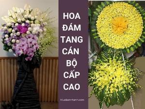 Điện vòng hoa viếng đám tang cán bộ, công chức, viên chức - Vòng hoa viếng lễ tang cấp cao