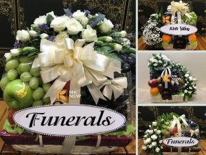 Điện giỏ trái cây viếng đám tang, giao liên quận TPHCM - Lẵng hoa quả cho tang lễ, phúng điếu, đám giỗ