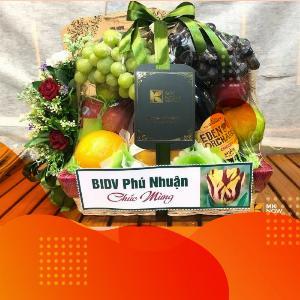 Mua quà tặng doanh nhân nữ Việt Nam 13/10 - giỏ hoa quả nhập khẩu món quà sức khỏe, xinh đẹp tài sắc